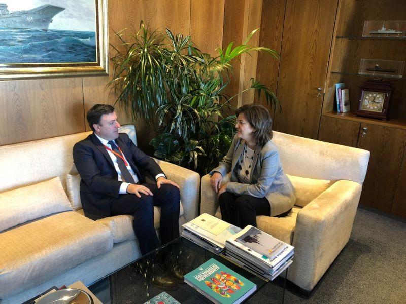 González Formoso ofrece á presidenta de Navantia a colaboración da Deputación para formar os perfís profesionais que demandará a construción das fragatas F-110