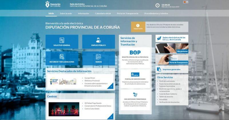 A Deputación renova as sedes electrónicas dos concellos da provincia da Coruña