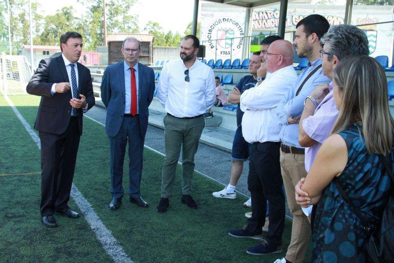 A Deputación destina 204.783 euros ás obras a renovación do terreo de xogo do campo de fútbol de Gallamonde, en Miño