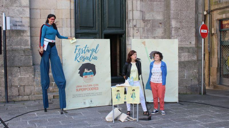 Unha feira e un amplo programa cultural protagonizan o Festival Rosalía organizado pola Deputación da Coruña en colaboración co Concello de Santiago