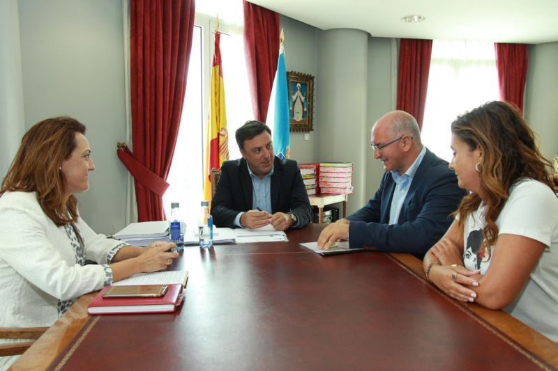 González Formoso e Freire Abeijón estudan melloras nas estradas da Deputación en Noia